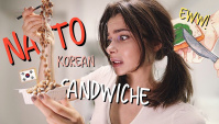 Корейский Сэндвич С Гнилыми Бобами Нато/Сэндвич С Брокколи (Видео)