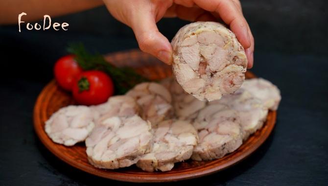 Куриная колбаса домашняя - Видео-рецепт