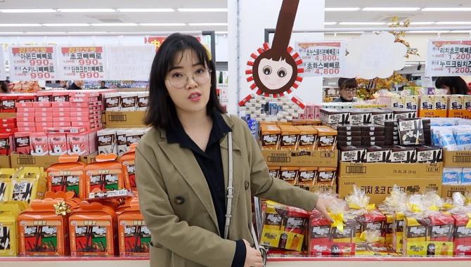 Покупка еды в Корее. Распаковка серебряной кнопки от Youtube (Видео)