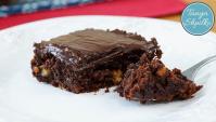 Быстрый Шоколадный Пирог (Брауни) с Орехами - Видео-рецепт