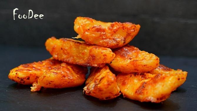 Картошка с хрустящей корочкой, запеченная в духовке - Видео-рецепт