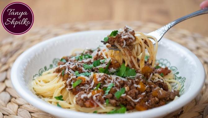 Спагетти Болоньезе - Видео-рецепт