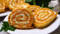 Морковный рулет - Видео-рецепт