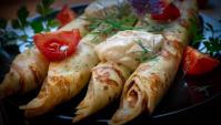Блинчики с сыром и зеленью - Видео-рецепт