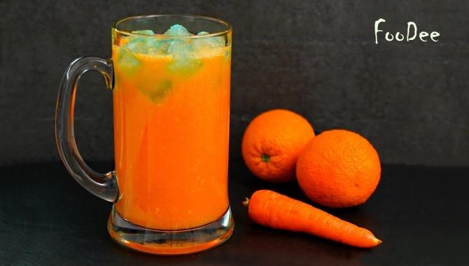 Морковно-апельсиновый напиток - Видео-рецепт
