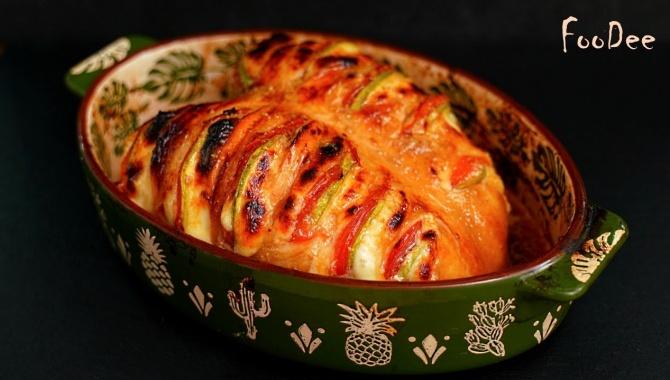 Сочная куриная грудка в духовке с овощами - Видео-рецепт