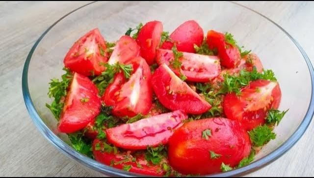 Вкуснейшие помидоры с мятой - Видео-рецепт
