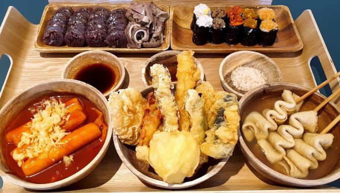 Корейская техника жарки. Популярная уличная еда (Видео)