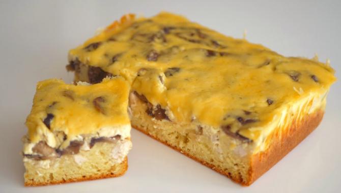 Пирог заливной с курицей и грибами - Видео-рецепт