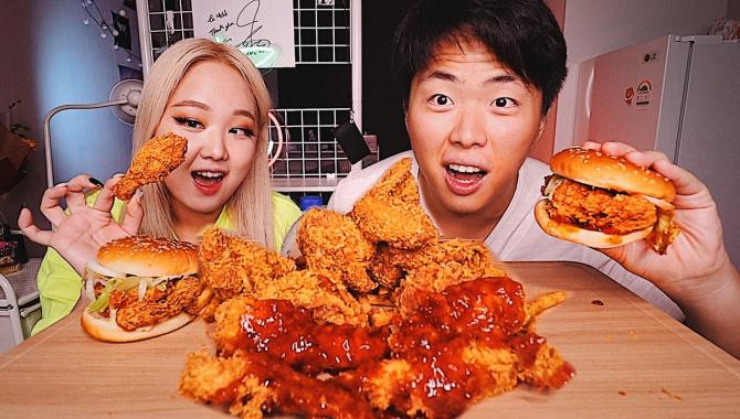 Лучшие Куриные Бургеры в Корее! (Видео)