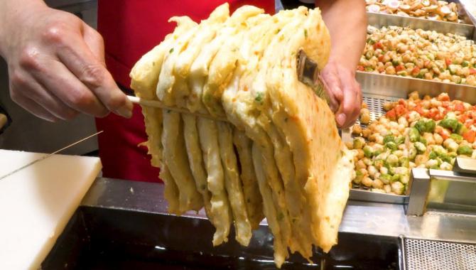 Корейская Уличная Еда - Лучшие рыбные кейки. Топ 7 (Видео)