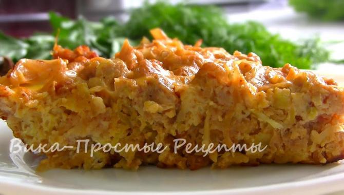 Вкусная запеканка с капустой и фаршем на сковороде - Видео-рецепт