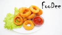 Луковые кольца с сыром во фритюре! Хрустящая закуска к пиву - Видео-рецепт