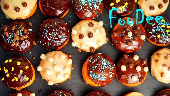 Воздушные пончики берлинеры с начинкой из заварного крема - Видео-рецепт