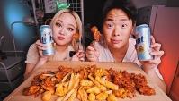 Корейская курица и пиво (Видео)
