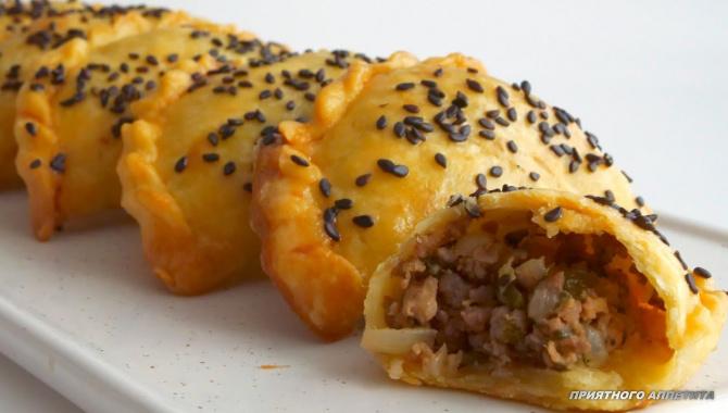 Пирожки из песочного теста с мясом - Видео-рецепт