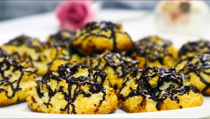 Домашнее Кокосовое печенье к чаю - Видео-рецепт
