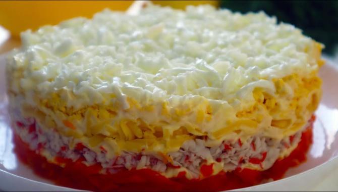 Праздничный Крабовый салат - Видео-рецепт
