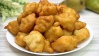 Яблочные пончики на кефире - Видео-рецепт