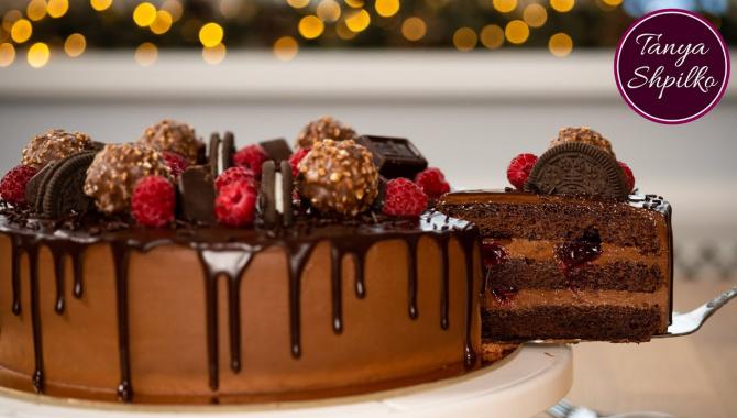 Легкий Шоколадно-Вишневый Тортик Пряная Вишня - Видео-рецепт