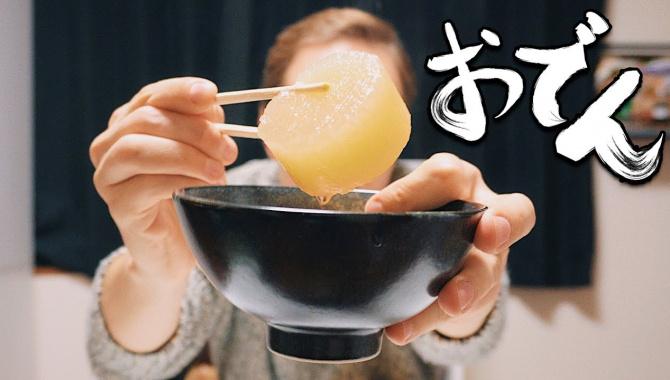 Что едят японцы зимой. Странное японское блюдо - Одэн (Видео)