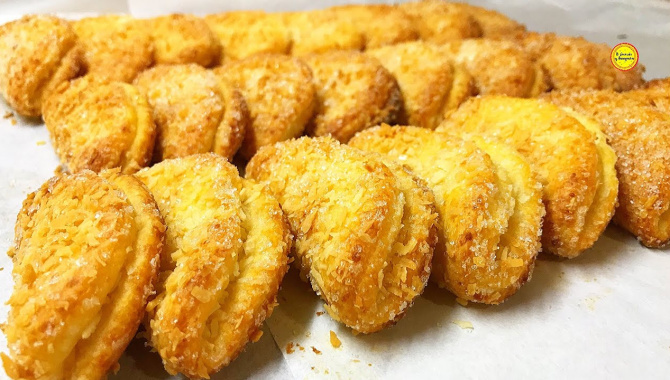 Печенье с кокосовой стружкой - Видео-рецепт