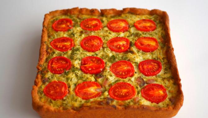 Пирог с цветной капустой и помидорами - Видео-рецепт