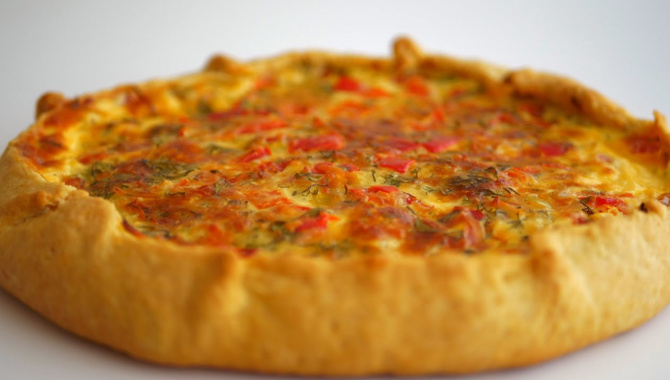 Простой пирог/галета с болгарским перцем и сыром - Видео-рецепт