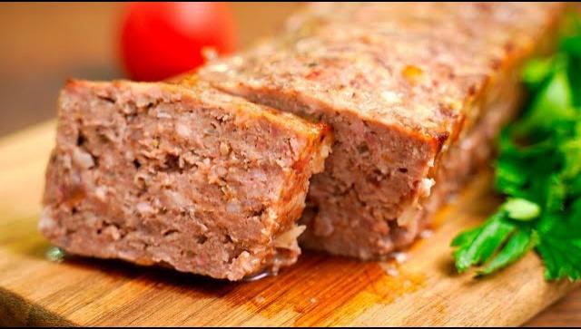 Очень вкусный мясной хлеб из фарша в духовке - Видео-рецепт