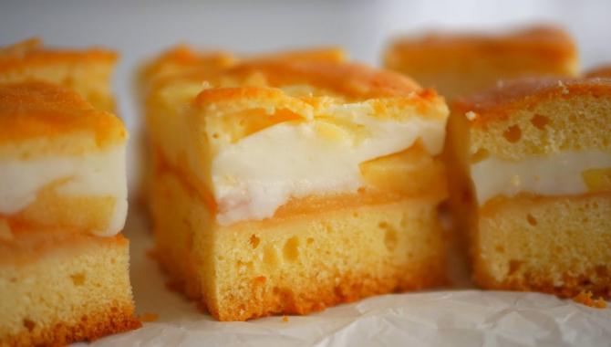 Яблочный пирог с кремом - Видео-рецепт
